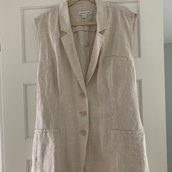 Coldwater Creek Jackets & Blazers - Coldwater Creek Great Lengths linen vest NWOT